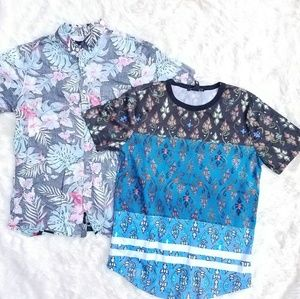 Other - 2 Men Summer Island Aloha Wear Shirts size M